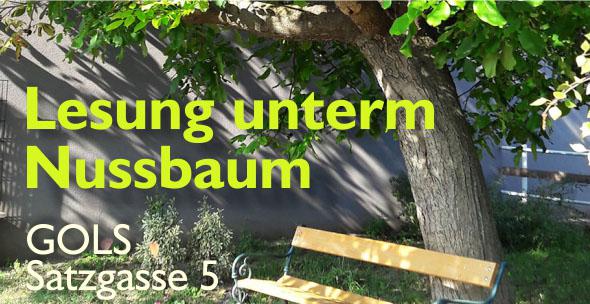 Details zur Veranstaltung – Lesung unterm Nussbaum