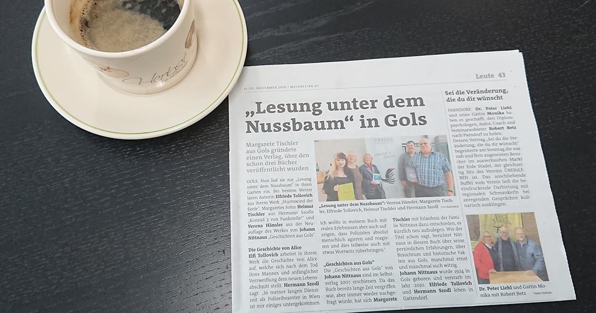 Lesungs-Artikel im Bezirksblatt
